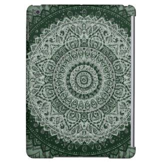 Middle eastern green hippy pattern iPad case