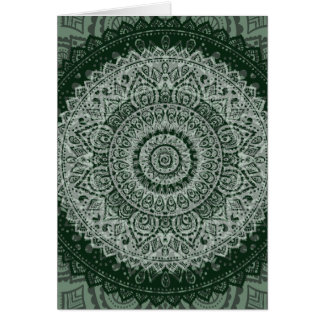 Middle Eastern Green Pattern Greeting Card