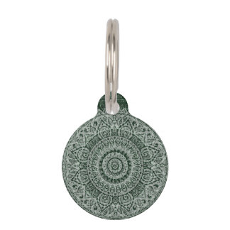 Middle Eastern Green Pattern Pet ID Tags