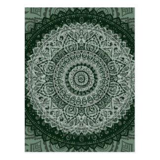 Middle Eastern Green Pattern Postcard
