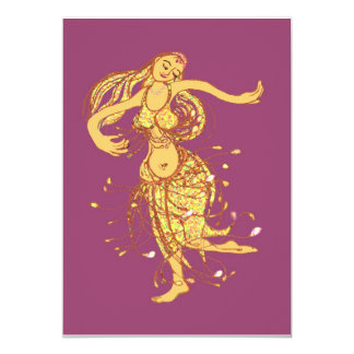 Middle eastern party - belly dancer card