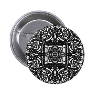 Middle eastern vintage pattern buttons