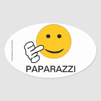 Middle Finger Paparazzi Sticker