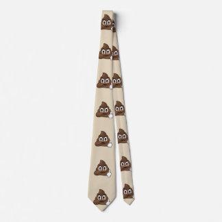 Middle Finger Poop Emoji Men''s Tie
