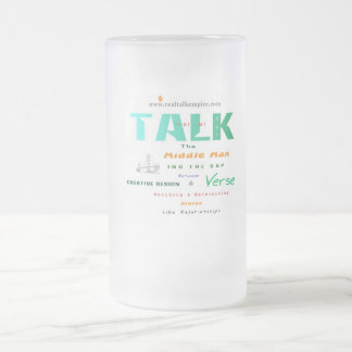 middle - glass frosted glass mug
