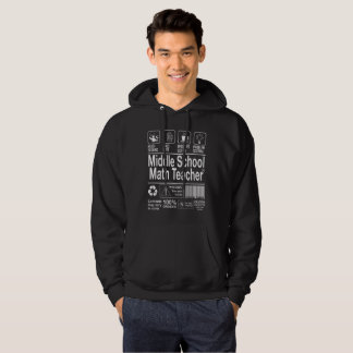 Middle School Math Teacher Hoodie