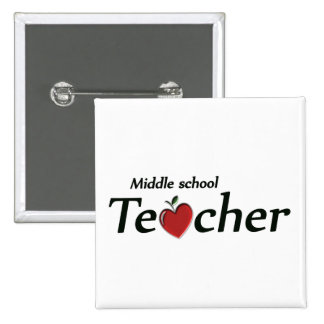 Middle School Teacher 15 Cm Square Badge