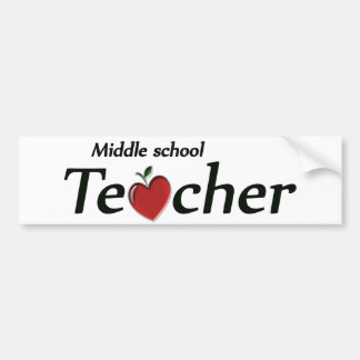 Middle School Teacher Bumper Sticker