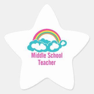 Middle School Teacher Star Sticker