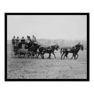 Middleburg Horse Race Stagecoach 1926 Poster