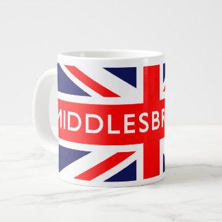 Middlesbrough British Flag Large Coffee Mug