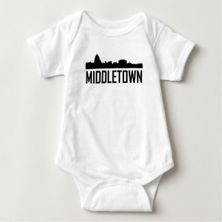 Middletown Connecticut City Skyline Baby Bodysuit