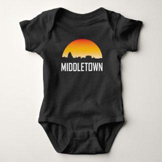 Middletown Connecticut Sunset Skyline Baby Bodysuit