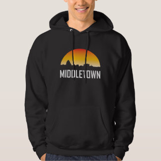 Middletown Connecticut Sunset Skyline Hoodie