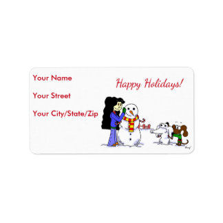 "Midge ""Happy Holidays"" Address Labels - Customize"