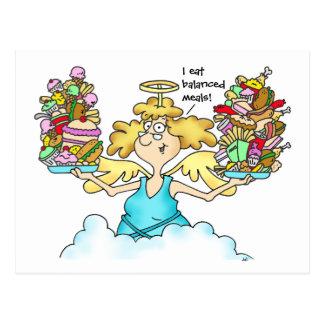 Midge's Diet Postcard #8 Balanced Meals