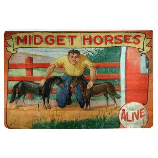 Midget Horses Floor Mat