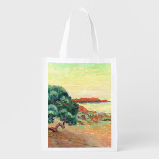 Midi Landscape, 1898 (oil on canvas) Reusable Grocery Bag