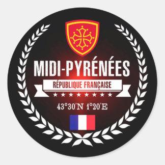 Midi-Pyrénées Classic Round Sticker
