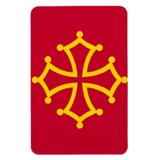 Midi Pyrenees flag france country french region Magnet