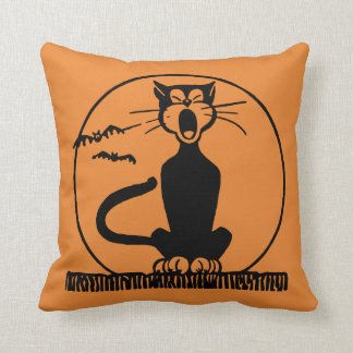 Midnight Alley Cat Accent Pillow