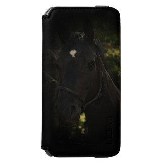 Midnight Beauty-Black Stallion Horse Incipio Watson™ iPhone 6 Wallet Case