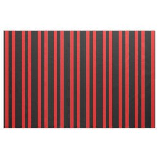 Midnight black, bright red stipe, stripes fabric