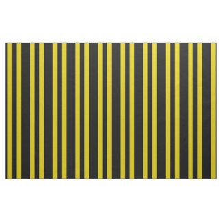 Midnight black, dark gold/yellow stipe, stripes fabric