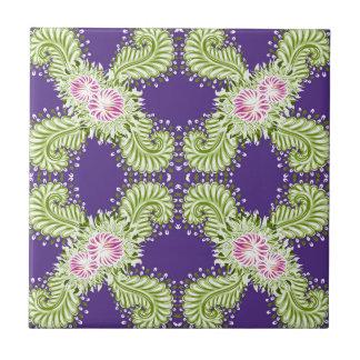 Midnight bloom ceramic tile