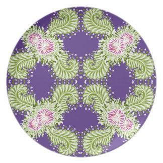 Midnight bloom plate