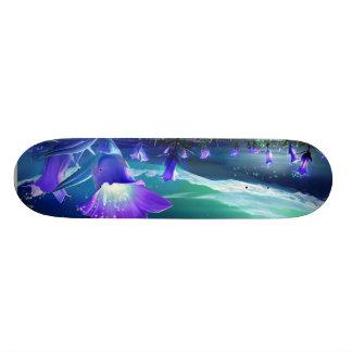 Midnight bloom skate board deck