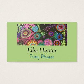 Midnight Blooms Custom Business Cards