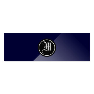 Midnight Blue Abstract Gothic Monogram Pack Of Skinny Business Cards