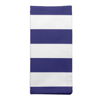 Midnight Blue and White Striped Cloth Napkin
