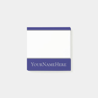 Midnight Blue Background and Light Grey Name Post-it Notes