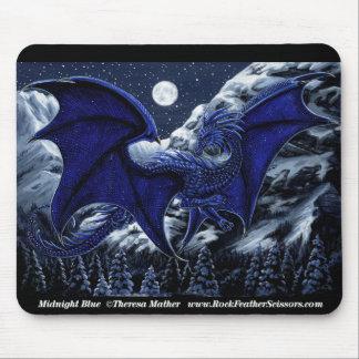 Midnight Blue Dragon Mousepad