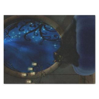 Midnight Blue Fantasy Art Tissue Paper