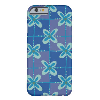 Midnight blue floral batik seamless pattern barely there iPhone 6 case