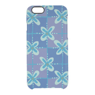Midnight blue floral batik seamless pattern clear iPhone 6/6S case