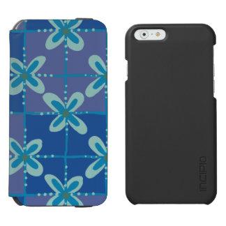 Midnight blue floral batik seamless pattern incipio watson™ iPhone 6 wallet case
