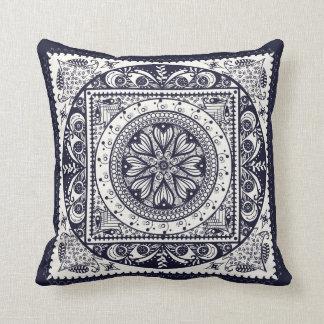 Midnight Blue Mandala Pillow