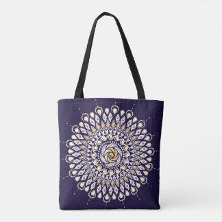 Midnight Blue Mandala Tote Bag