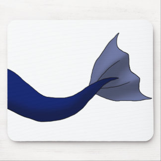 Midnight Blue Mermaid Tail Mouse Pad