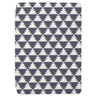 Midnight Blue Modern Aztec Geometric Pattern iPad Air Cover
