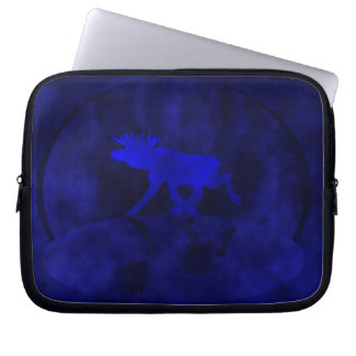 Midnight blue Moose Laptop Sleeve