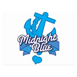 MIDNIGHT Blue Navy Rockabilly design Postcard