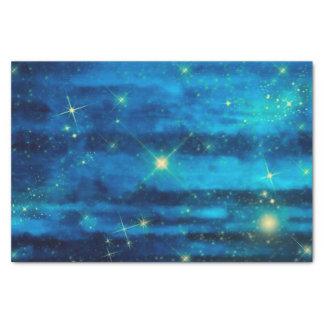 Midnight blue night sky with stars tissue paper