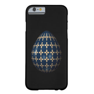 MIdnight Blue Ornamental Egg Barely There iPhone 6 Case