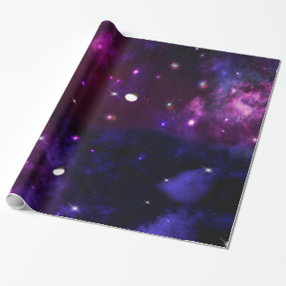 Midnight Blue Purple Galaxy Wrapping Paper