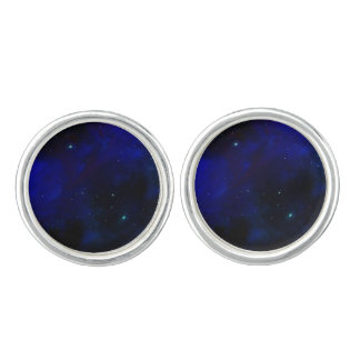 Midnight Blue Sky with Stars Cufflinks